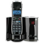 GE Handset, f/Phone System, 6.0, w/ CW/CID, Cordless, Black/Silver
