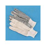 Galaxy 8 PVC Dotted Canvas Gloves, One Size Fits All