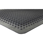 Genuine Joe Beveled Edge Anti-Fatigue Mat, 2' x 3', Black