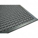 Genuine Joe Rubber Scraper Mat, 4' x 6', Charcoal