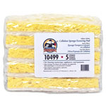 "Genuine Joe Sponge Scrubber, 3-14"" x 6-1/4"" x 3/4"", Yellow/White"