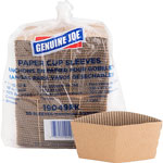 Genuine Joe Cup Sleeves, 10-16oz., Brown