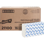 "Genuine Joe 21100 White Multifold Paper Towels, 9 4/10"" x 9 1/4"", 250 Sheets/Pack"