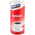 Genuine Joe Sugar, Reclosable Lid, 20 oz., Canister, 12/CT