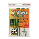 Genuine Joe EcoTowl Cleaning Cloth, White, Pack of 3