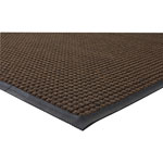 Genuine Joe Indoor/Outdoor Rubber & Polyproylene Floor Mat, 3' x 5', Brown