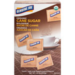 Genuine Joe Turbinado Cane Sugar, Unrefined, 200/BX, Brown