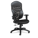 Global Tye™ Mesh Management Series High Back Swivel/Tilt Chair, Black