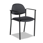 Global Comet Series Stacking Arm Chair, Gray Polypropylene Fabric, 3/Carton