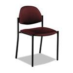 Global Comet Series Armless Stacking Chair, Burgundy Polypropylene Fabric, 3/Carton