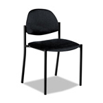 Global Comet Series Armless Stacking Chair, Black Polypropylene Fabric, 3/Carton