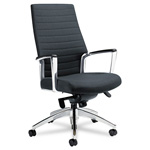 Global Accord Series Leather/Mock Leather High Back Tilt Chair, Black