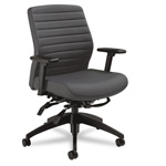 Global Aspen Series Vinyl Mid-Back Multi-Tilt Chair, Onyx