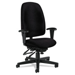 Global Granada Series Swivel Task Chair, Black Polypropylene