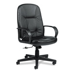 Global Arno Executive Leather High Back Swivel/Tilt Chair, Black