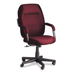 Global Commerce Series High Back Swivel/Tilt Chair, Burgundy Fabric