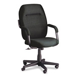 Global Commerce Series High Back Swivel/Tilt Chair, Black Fabric