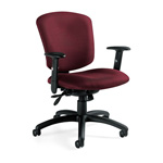 Global Supra X Series Swivel Task Chair, Burgundy Fabric