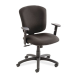 Global Supra X Series Swivel Task Chair, Black Fabric