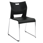 Global Duet Series Stacking Chair, Black