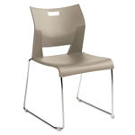 Global Duet Series Stacking Chair, Beige