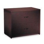 Global Genoa Series Two-Drawer Lateral File, 36w x 20d x 29h, Dark Espresso
