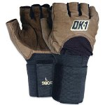 Box Partners Half Finger Impact Glove w/Wrist Support Medium Size