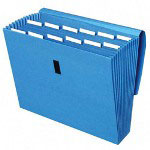 Cardinal expanding file with velcro closure, 13 pockets, letter, blue