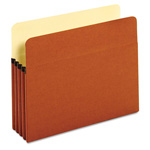 "Globe Weis Standard File Pockets, Redrope, 3 1/2"" Expansion, Letter, Brown"