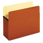 "Globe Weis Standard File Pockets, Redrope, 5 1/4"" Expansion, Letter, Brown"