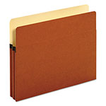 "Pendaflex Bulk File Pockets, 1 3/4"" Expansion, Legal, Redrope, 50/BX"