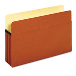 "Globe Weis Standard File Pocket, Brown, 3 1/2"" Exp., Legal"