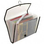 Cardinal 13-Pocket File, with Elastic Closure, Mesh Pocket on Back, Letter