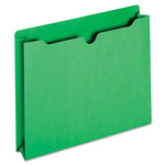TOPS File Jacket, Two Inch Expansion, Letter, Green, 50/Box