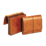 TOPS Heavy-Duty Expanding Wallets, Straight Cut, 1 Pocket, Letter, Brown