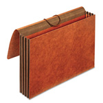 TOPS Heavy-Duty Expanding Wallets, Straight Cut, 1 Pocket, Legal, Brown