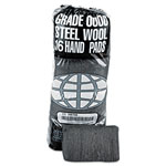 Global Material Industrial-Quality Steel Wool Hand Pad #0000 Finest