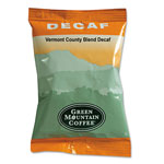 Green Mountain Vermont Country Blend Decaf Coffee Fraction Packs, 2.2oz, 50/Carton