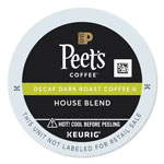 Peet's Decaf House Blend K-Cups, 22/Box