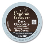 Cafe Escapes® Dark Chocolate Hot Cocoa K-Cups, 24/Box, 4 Box/Carton