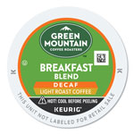 Green Mountain Breakfast Blend Decaf Coffee K-Cups, 96/Carton