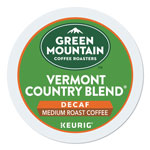 Green Mountain Vermont Country Blend Decaf Coffee K-Cups, 24/Box