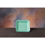 "Genpak Supermarket Trays, Foam, Green, 5 1/4""x5 1/4""x0.88"""