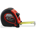 "Great Neck Tools Sheffield Tape Measure, 1"" x 25', 24PK/CT, Black/Red"
