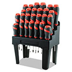 Great Neck Tools Screwdriver Set and Storage Rack, 26-Piece