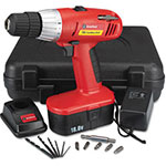 "Great Neck Tools 18 Volt 2 Speed Cordless Drill, 3/8"" Keyless Chuck"