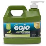 Gojo Ecopreferred Pumice Hand Cleaner, 1/2 Gal Pump Bottle, Lime Scent