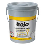 Gojo Scrubbing Towels, Hand Cleaning, Fresh Citrus,10 1/2x12 1/4, 72/Canister,6/Crtn
