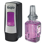 Gojo ADX-7 Antibacterial Foam Handwash Kit, 700mL, Manual, Chrome/Black, 4/Carton