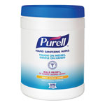 PURELL® Sanitizing Wipes, 6 x 6 3/4, White, 270/Canister
